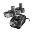 Ryobi - BLK18152 - PACK CARREGADOR + 2 BATERIAS 18V -1,4 AH LITIO BLK18152ONE+